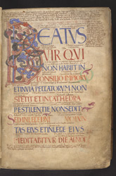 Beatus Page, In 'The Bosworth Psalter'
